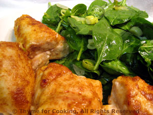 Lemon Spinach and Chicken Salad