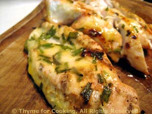 Grilled Tarragon Chicken Breasts, summer recipe from the grill.