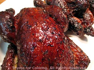 Molasses Glazed Cornish Hens