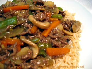 Oriental Beef with Brown Rice