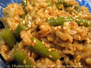 Warm Green Beans and Brown Rice