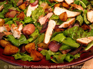 Chicken Salad with Roasted Potatoes, Shallots and Onions