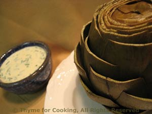 Artichokes with Dill Dip