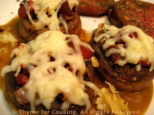 Mushrooms, Stuffed with Bacon and Tomato
