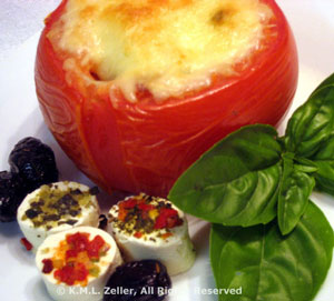 Tomatoes Stuffed with Prosciutto and Basil