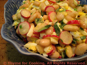 White Bean (Cannellini) and Radish Salad