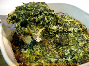 mock spinach souffle, quick, easy vegetable recipes.